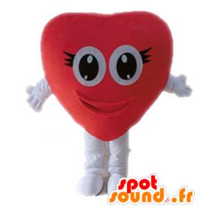 Coração vermelho mascote gigante. mascote romântico - MASFR028677 - mascote dos namorados