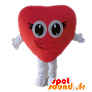 Sydän punainen jättiläinen maskotti. romanttinen maskotti - MASFR028677 - Mascotte Saint-Valentin