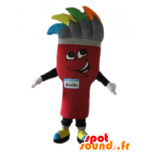 Giant paintbrush mascot. painting mascot - MASFR028678 - Mascots of objects