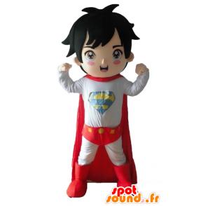 Boy dressed in mascot superhero outfit - MASFR028680 - Superhero mascot