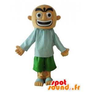 Mascotte uomo calvo con l'aria feroce - MASFR028681 - Umani mascotte