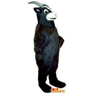 Czarny kozioł maskotka. kostium koza