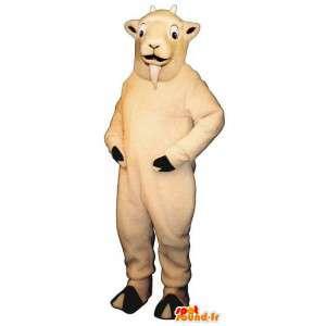Mascot white goat cream. Costume goat - MASFR007280 - Goats and goat mascots
