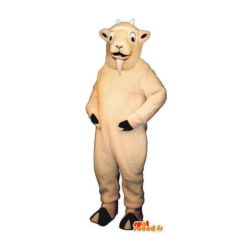 Mascot crema de cabra blanca.Cabra de vestuario - MASFR007280 - Cabras y cabras mascotas