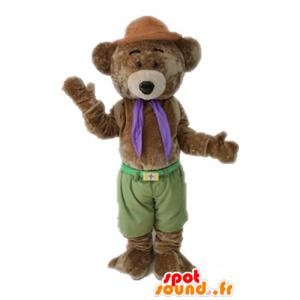 Brun nallebjörnmaskot, mjuk och söt - Spotsound maskot