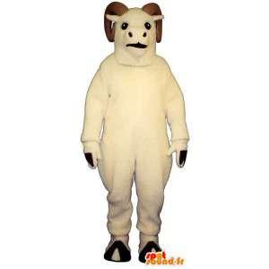 Bílá ram kostým. ram Costume