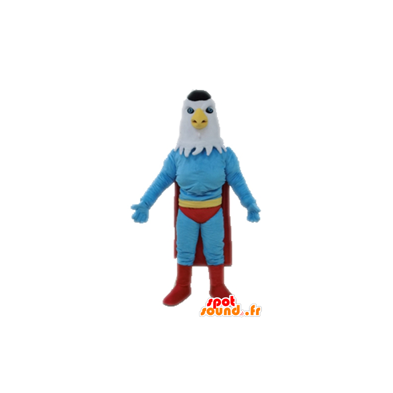 Eagle mascot dressed as a superhero - MASFR028707 - Superhero mascot