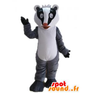 Mascot tricolor Stinktier. Mascot Waschbär - MASFR028710 - Maskottchen von pups