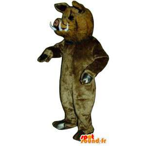 Mascot boar brown, very realistic - MASFR007284 - Animals of the forest
