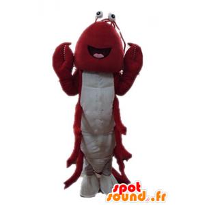 Mascota de langosta gigante. cangrejos de la mascota