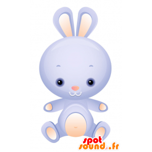 Mascot blue and pink bunny, cute and endearing - MASFR028729 - 2D / 3D mascots