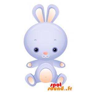Maskotti sininen ja vaaleanpunainen pupu, söpö ja herttainen - MASFR028729 - Mascottes 2D/3D