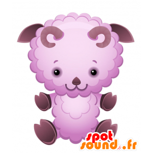 Mascot sheep, ram purple, very friendly - MASFR028731 - 2D / 3D mascots