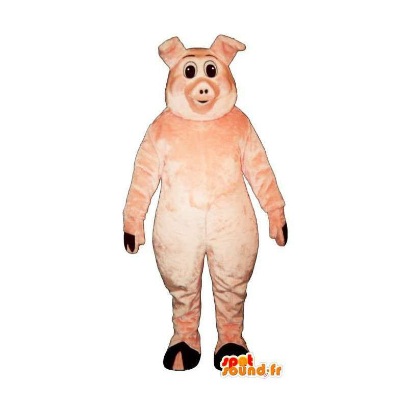 Pink pig mascot. Costume pork - MASFR007288 - Mascots pig