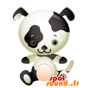 Mascotte tinto nero cane bianco. mascotte della Dalmazia - MASFR028735 - Mascotte 2D / 3D