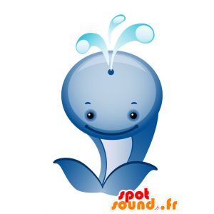 Mascot blauwe en witte walvis, reus en schattig - MASFR028738 - 2D / 3D Mascottes