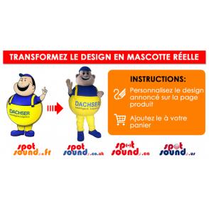 Vihreä ja keltainen käärme maskotti on suuri kieli - MASFR028742 - Mascottes 2D/3D