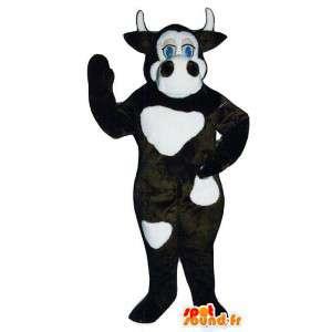 茶色と白の牛の衣装