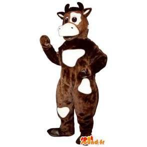 Mascotte de vache marron et blanche - MASFR007293 - Mascottes Vache
