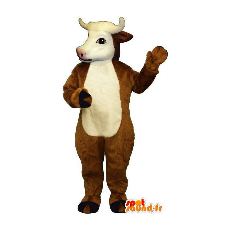 Costume de vache marron et blanche - MASFR007294 - Mascottes Vache