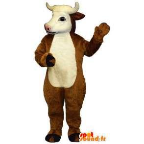 Brązowe i białe krowy kostium - MASFR007294 - Maskotki krowa
