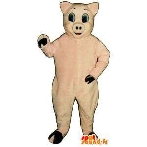 Vaaleanpunainen sika maskotti