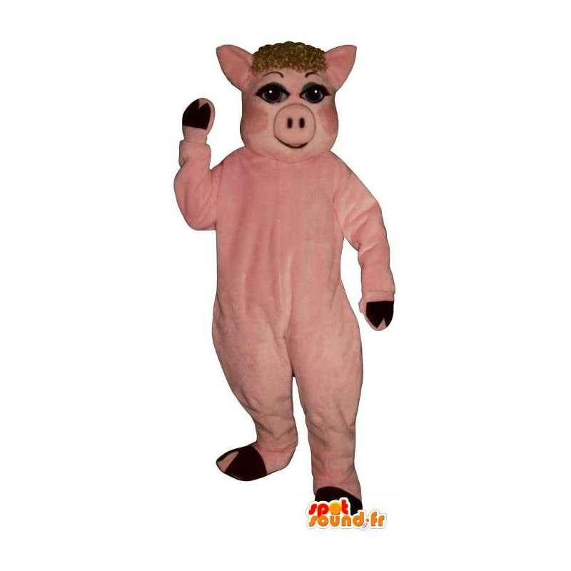 Rosa Schwein-Maskottchen.Kostüm Sau - MASFR007296 - Maskottchen Schwein