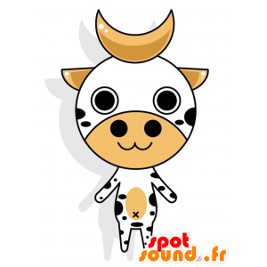 Black and white cow with horns mascot - MASFR028772 - 2D / 3D mascots