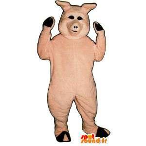 Świnia różowy kostium
