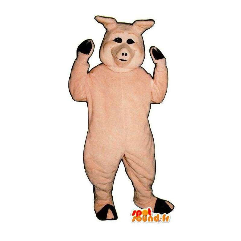 Pink pig costume - MASFR007297 - Mascots pig