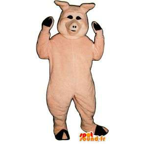 Rosa Schwein-Kostüm - MASFR007297 - Maskottchen Schwein