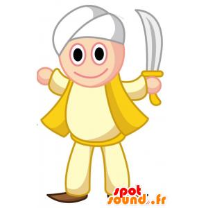 Sultan maskotti, jolla on turbaani