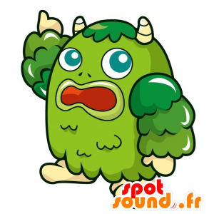 Vihreä hirviö maskotti, hauska ja epätavallinen