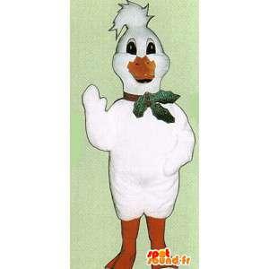 Biała kaczka maskotką