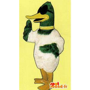 Mascot duck green and white