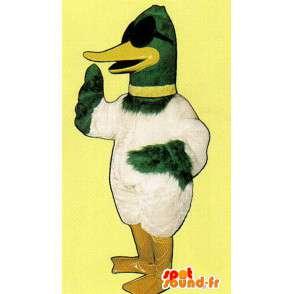 Mascotte de canard vert et blanc - MASFR007302 - Mascotte de canards