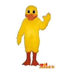 Amarelo mascote pato. Costume Duck