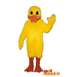 Yellow duck mascot. Duck costume
