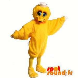 Mascotte anatra giallo, pulcino