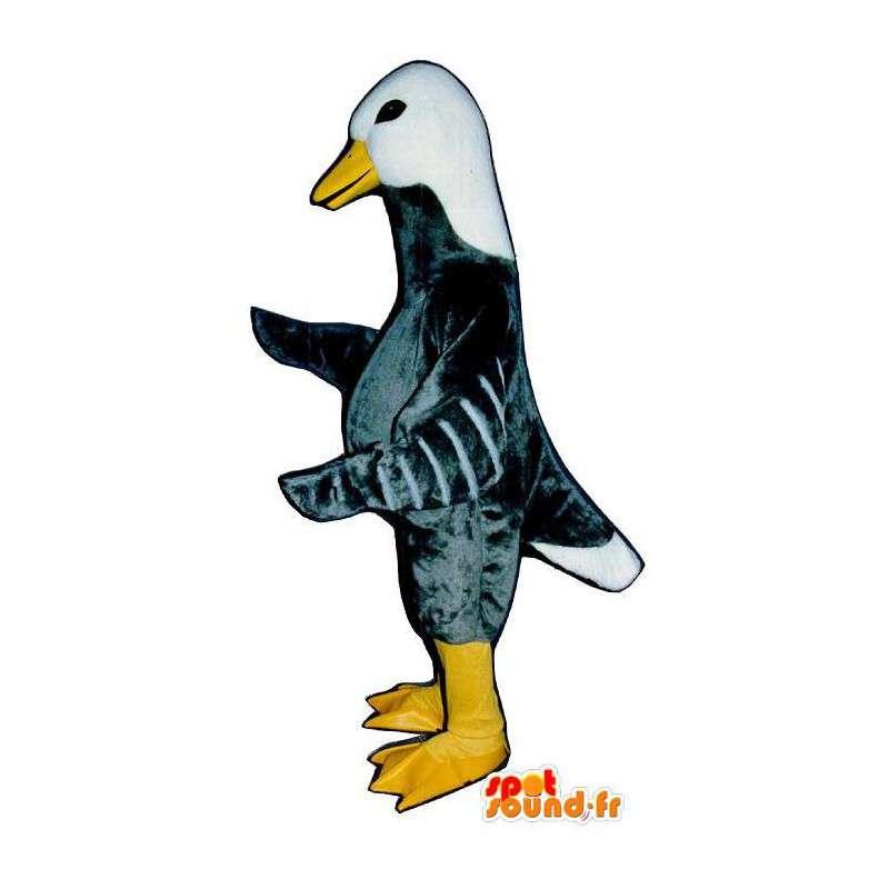 Mascotte d'oie grise et blanche - MASFR007308 - Mascotte de canards