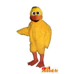 Mascota del pato amarillo.Pato traje