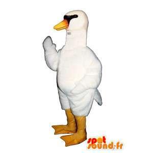 Mascotte cigno bianco, molto realistico - MASFR007311 - Mascotte Swan