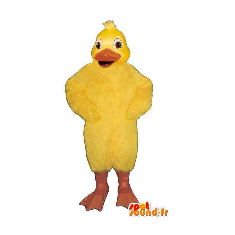 Mascotte de poussin jaune géant. Costume de canard - MASFR007312 - Mascotte de canards