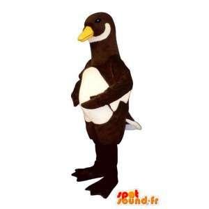 Mascot marrón y blanco del pato