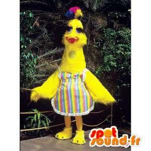 Mascotte uccello giallo, anatra originale - MASFR007314 - Mascotte degli uccelli