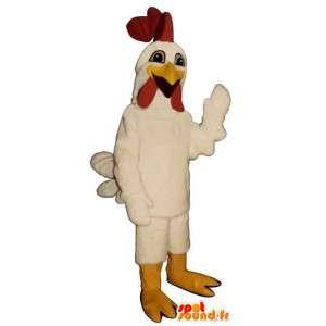Witte haan mascotte. haan kostuum - MASFR007318 - Mascot Hens - Hanen - Kippen