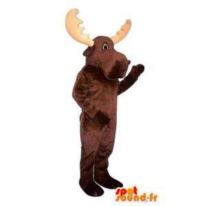 Mascot impulso marrón.Reindeer Costume