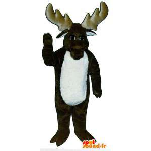 Mascot brown reindeer