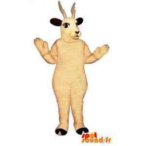 Mascote rena branca. terno rena