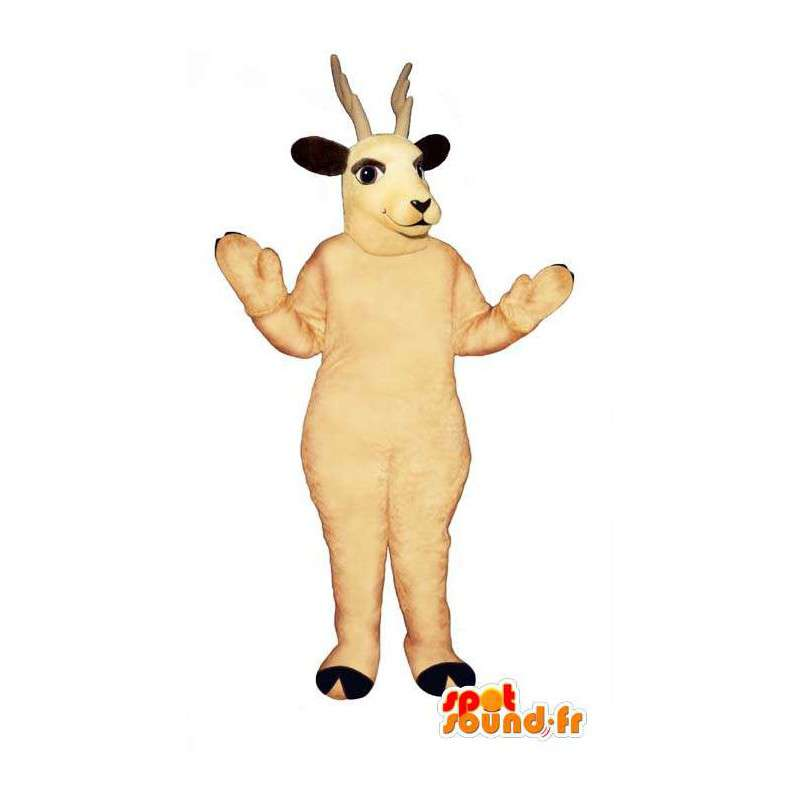 Mascot white reindeer. Reindeer Costume - MASFR007326 - Mascots stag and DOE